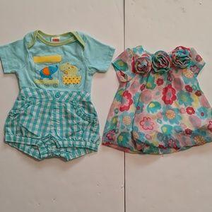 Bundle 3 Pieces Girl's 6-9M  Koala Baby Garanimals